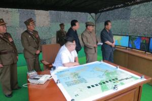 Kim Jong Un Guides Successful Drill for Ballistic Rocket Fire