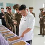 Kim Jong Un Inspects Fish Food Factory under KPA Unit