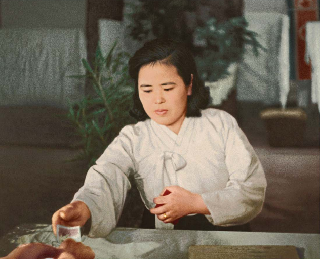 Kim Jong Suk, the anti-Japanese war heroine, takes part in the elections [March Juche 38 (1949)].