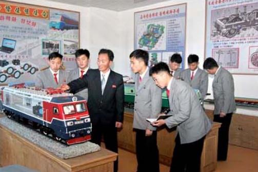 The locomotive running gear laboratory.
