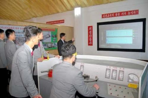 The locomotive driving simulation laboratory.