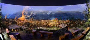 Diorama of the Battle of Pochonbo