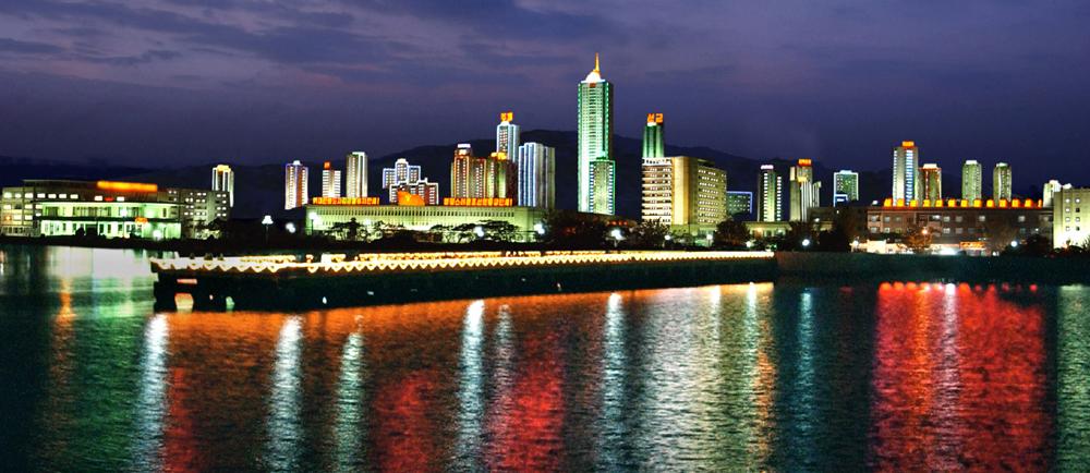 Wonsan at night