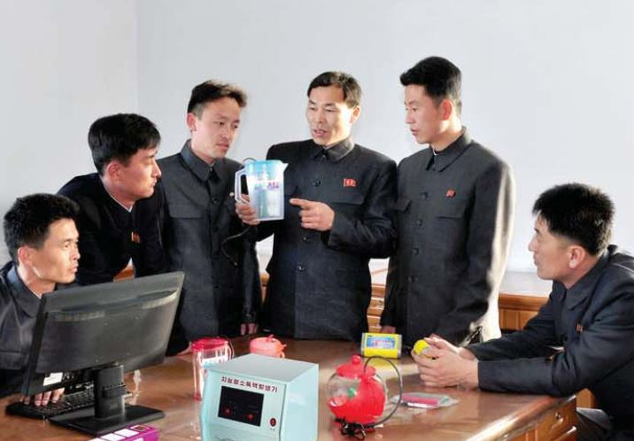 Developers of an antiseptic solution generator.